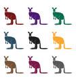 kangaroo icon in black style isolated on white vector image
