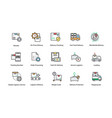 logistics delivery icons vector image vector image