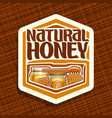 logo for natural honey vector image