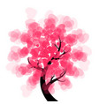 love tree - heart vector image
