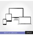 Modern design in responsive website vector image vector image