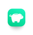 moneybox piggy bank icon vector image