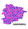 mosaic andorra map of circle dots vector image vector image