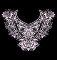 neckline - ethnic floral design vector image vector image