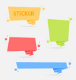 origami style sticker and banner template vector image