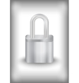 Padlock with background vector image
