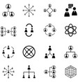 people network icon set vector image vector image