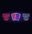 poker neon sign casino poker design vector image