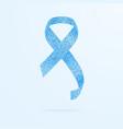 prostate cancer ribbon awareness november light vector image vector image