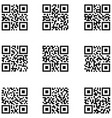 qr code icon set vector image