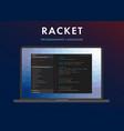 racket programming language vector image vector image