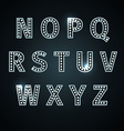 retro glowing font vector image vector image