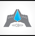 Save nature concept with water drop vector image vector image