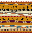 Seamless pattern in tribal style with figures vector image vector image