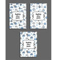 Set of happy new year card templates with arctic vector image vector image