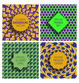 set various frames on optical illusion vector image vector image