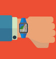 smart watch maps and navigation application vector image vector image