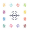 snowflake flat icons set vector image vector image