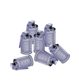 Stack of Tear Gas Grenades on White Background vector image vector image