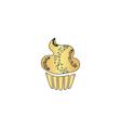 Sweet cupcake computer symbol vector image vector image