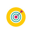 target with arrow - concept colored icon in flat vector image
