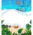 Tropical beach frame vector image vector image