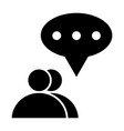 two people dialogue solid icon two users chat vector image vector image
