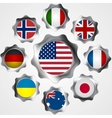 USA influence Metal gears and flags vector image vector image