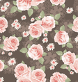 vintage classic roses seamless background vector image vector image