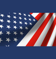 waving national flag united states america vector image