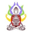 yoga meditating in lotus asana icon