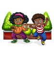 Young Black people dancing vector image vector image