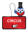 Comical Circus Sign vector image