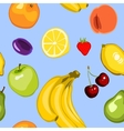 seamless summer fruit background vector image