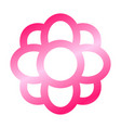 simple flower icon vector image