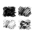 Black paint stains overlay texture vector image