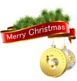 Christmas dollar vector image