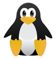 abstract cute pinguin linux mascot tux for ubuntu vector image vector image