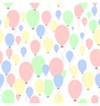 air balloons pattern vector image vector image