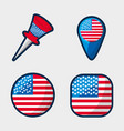 american buttons to encourage the spirit of vector image