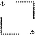 anchor and chain frame 1401 vector image vector image