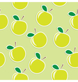 Apple seamless background vector image