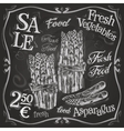 asparagus logo design template fresh vector image vector image