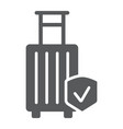 baggage insurance glyph icon protection and vector image vector image