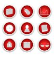 business button set vector image vector image