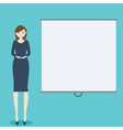 Business woman with demonstration board vector image vector image