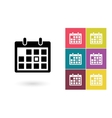 Calendar icon or calendar pictogram vector image