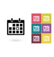 calendar icon or pictograph vector image vector image