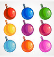 cartoon colored balls for a christmas tree vector image