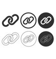 chain link icon shape button set hyperlink vector image vector image